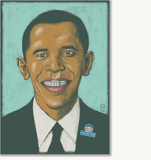 Bad Paintings of President Obama