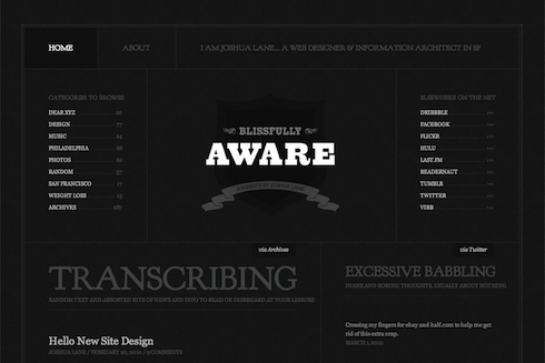 Blissfully Aware site redesign.