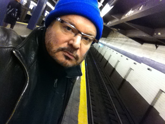 Jeffrey Zeldman, self-portrait in NYC subway