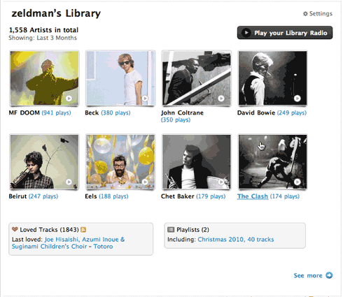 Jeffrey Zeldman's Music Library on Last.fm